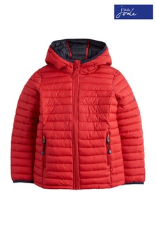 Joules Red Cairn Boys Packable Jacket