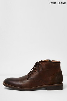 73d152a89d6 River Island Brown Leather Boot