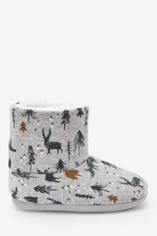 Christmas Nature Slipper Boots (Younger)