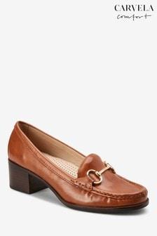 Carvela Comfort Tan Amy Heeled Loafer