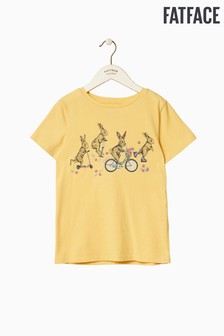 FatFace Yellow Bunny Placement Graphic Tee