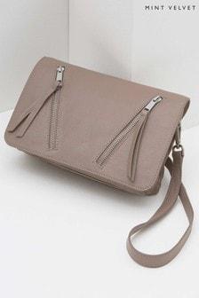 a8affd48a197 Mint Velvet Pink Anna Flap Detail Cross Body Bag