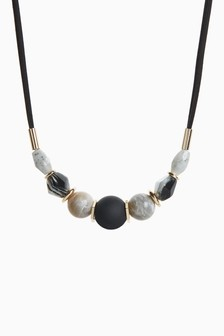 Cord Beaded Short Necklace