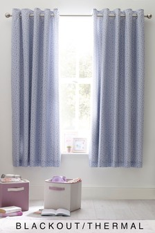 Speckle Print Eyelet Curtains