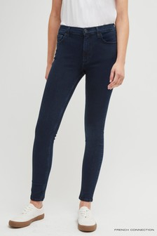 French Connection Blue And Black R Rebound 30 Skinny Jeans
