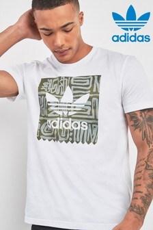adidas Originals White Logo Dakari Tee