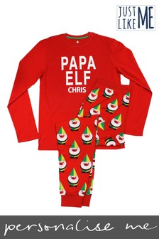 Personalised Papa Elf Pyjamas