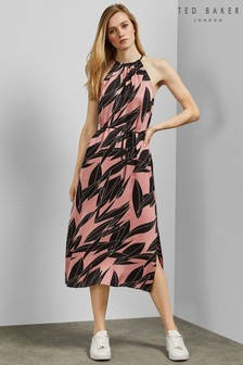 Ted Baker Pink Halter Midi Dress