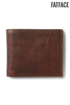 Светло-коричневый классический кошелек из зернистой кожи FatFace