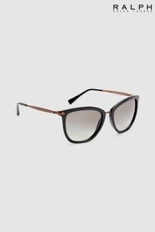 Czarne okulary przeciwsłoneczne ze złotymi oprawkami Ralph by Ralph Lauren®