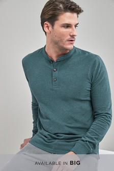 Soft Touch Long Sleeve Grandad Top