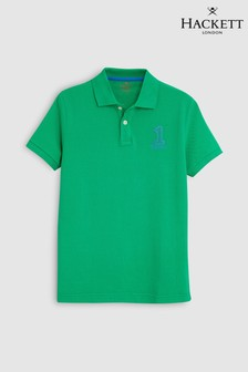 Hackett Kids Green No. 1 Classic Short Sleeve