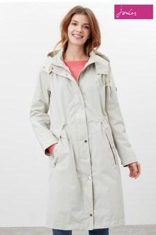 Joules Grey Taunton Waterproof Long Technical Rain Coat