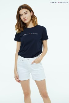 Tommy Hilfiger White Straight Denim Shorts