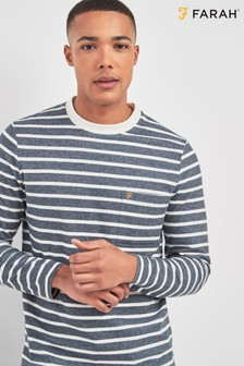 Farah True Navy Melis Stripe Tee