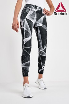 Reebok Black Lux Bold Printed 7/8 Leggings