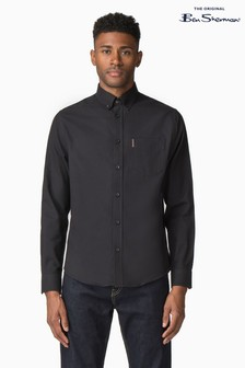 Ben Sherman Black Plain Oxford Shirt