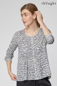 Thought Grey Spot Dash Blouse