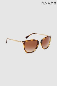Ralph by Ralph Lauren Tortoiseshell Effect Gold Arm Sunglasses