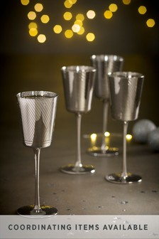 Beaumont Metallic Set of 4 Wine Glasses