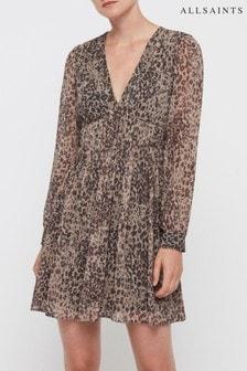 Платье с леопардовым принтом AllSaints Kianna