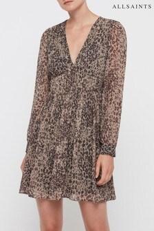 AllSaints Leopard Kianna Patch Dress