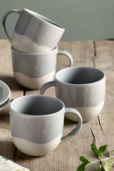 Set of 4 Burford Mugs