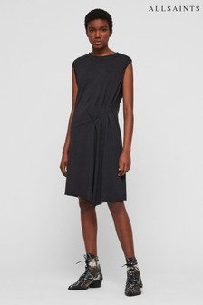 AllSaints Dark Blue Duma Gathered Dress