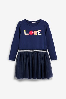 Billieblush Navy Love Dress