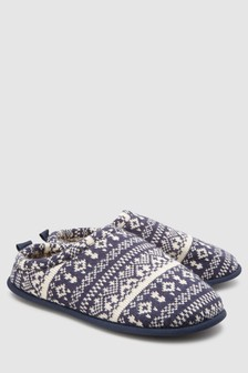 Fairisle Pattern Mule