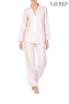 Lauren Ralph Lauren® Pink Stripe Jacquard Pyjama Set