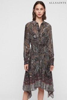 AllSaints Paisley Scarf Print Lizzy Shirt Dress