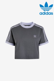 adidas Originals Grey/Lilac Cropped Tee