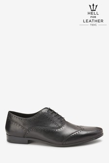 Punched Wing Cap Leather Oxford Shoe
