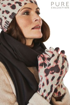 Pure Collection Animal Cashmere Gloves