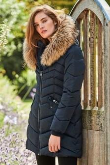 Faux Fur Trim Padded Jacket