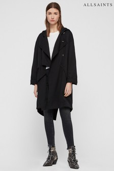 All Saints Black Bexley Parka