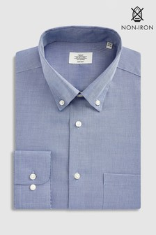 Non-Iron Slim Fit Textured Button Down Shirt