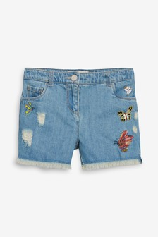 Butterfly Embroidered Shorts (3-16yrs)