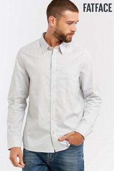 FatFace White Palm Tree Print Shirt