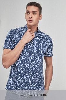 4b17561e4b5 Smart Short Sleeve Ditsy Floral Print Shirt