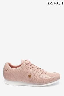 حذاء رياضي وردي شكل جلد تمساح صناعي من Ralph Lauren