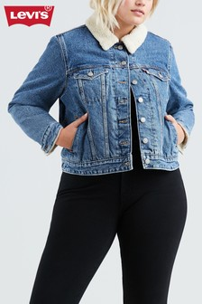 Levi's® PLUS Indigo Sherpa Trucker Jacket