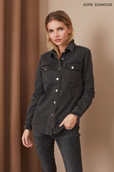 Sofie Schnoor Black Stud Denim Shirt