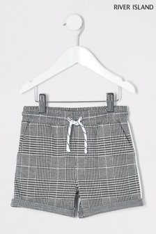 River Island Grey Check Short
