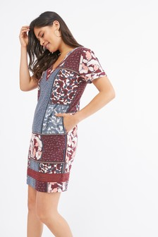 Clothing, Shoes & Accessories Dresses Purple Spot Jersey Dress 6-8 Street Price