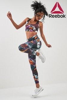 Reebok Violet Print Lux Bold Tight