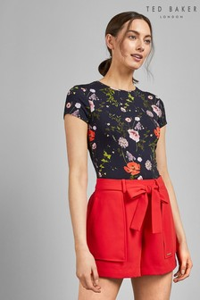Ted Baker Navy Floral T-Shirt