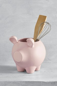 Pig Utensil Pot