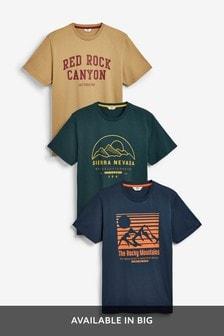 מארז שלוש חולצות טי עם הדפס